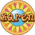 Karen Name Bright Flower T-shirts Gifts