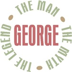 George the Man the Myth the Legend T-shirts Gifts