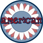 American Flower Red White Blue T-shirts Gifts