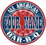 Last Name Custom All American Bar-B-Q Tees Gifts