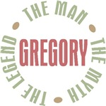 Gregory the Man the Myth the Legend T-shirts Gifts