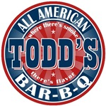 Todd's All American Bar-b-q T-shirts Gifts