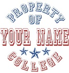Property of Your Last Name College T-shirts Gifts