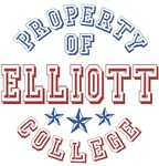Elliott College Custom Property Of T-shirts Gifts