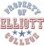 Elliott College Custom Property Of T-shirts Gifts