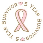 5 Year Breast Cancer Survivor T-shirts Gifts