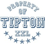 Property of Tipton Personalized Name T-shirts Gift