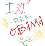 I Love Heart Bee-rack Obama Tees and Gifts