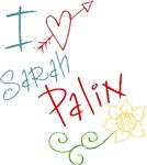 I Love Heart Sarah Palin T-shirts Gifts