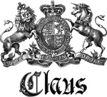 Claus Family Name Crest Tees Gifts
