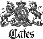 Cates Vintage Family Crest Tees Gifts