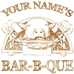 Your Name Vintage Bar-B-Que T-shirts Gifts