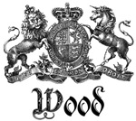 Wood Vintage Family Name Crest Tees Gifts