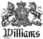 Williams Last Name Vintage Family Crest Tees Gifts