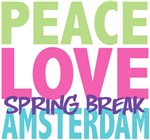 Peace Love Spring Break Amsterdam Tees Gifts
