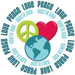 Peace Love Earth Day Tees Gifts