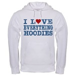 I Love Heart Light Hoodies