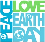 Peace Love Earth Day Graphic Tees Gifts