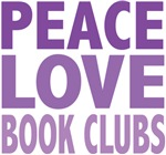 Peace Love Book Clubs Tee Shirts Gifts