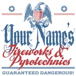 Funny Personalized Fireworks Company Tees and Gift