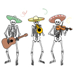 Mariachi Skeleton Band