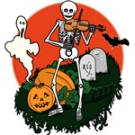 Halloween Skeleton Violin Player