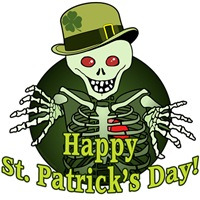 Happy St. Patrick's Day Skeleton