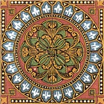 Classic Decorative Round Tile Art