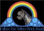 With all the colors of the rainbow, this Wonderful Wizard of Oz inspired design capturesToto Follow the Yelllow Brick Road.  The perfect gift for any Oz fan.