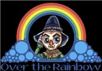 With all the colors of the rainbow, this Wonderful Wizard of Oz inspired design captures Scarecrow Over the Rainbow.  The perfect gift for any Oz fan.