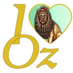 The Cowardly Lion look onwards with an emerald green heart with yellow brick lettering.  I heart Oz or I love oz is for the Wizard of Oz fan in all of us.