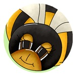 Cute Bee Buttons, Stickers And Magnets
