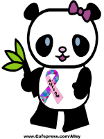 PANDA WITH AUTISM AWARENESS RIBBON