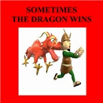 dragon humor on gifts and t-shirts