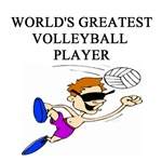 world's greatest volleyball player gifts t-shirts