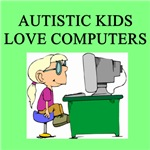 autistic girls computer gifts t-shirts