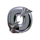 Heavy Metal initial letter O monogram