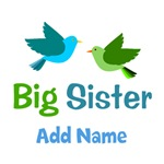 Personalized Big Sister Gifts With Birds