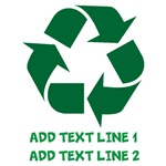 Personalized Recycle Symbol Shirts