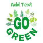 Go Green Personalized Shirts