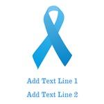 Personalized Light Blue Ribbon Shirts