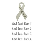 Personalized Lung Cancer Ribbon Tees