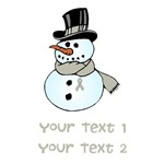 Personalized Lung Cancer Snowman Shirts