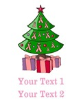 Custom Breast Cancer Christmas Tree Shirts