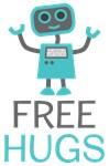Cute Free Hugs Smiling Robot