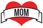 Mom Heart and Ribbon