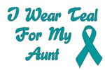 Ovarian Cancer Support Aunt T-shirts