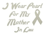 Mother in Law Pearl Ribbon Awareness Button