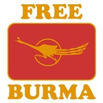 Free Burma Fighting Peacock Shirts