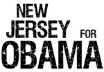 New Jersey For Obama T-shirt